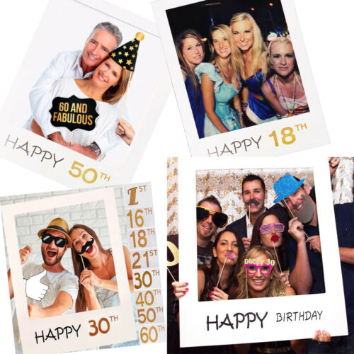 18th 21st 30th 40/50th Happy Birthday Party Paper Photo Booth Props Frame Decor