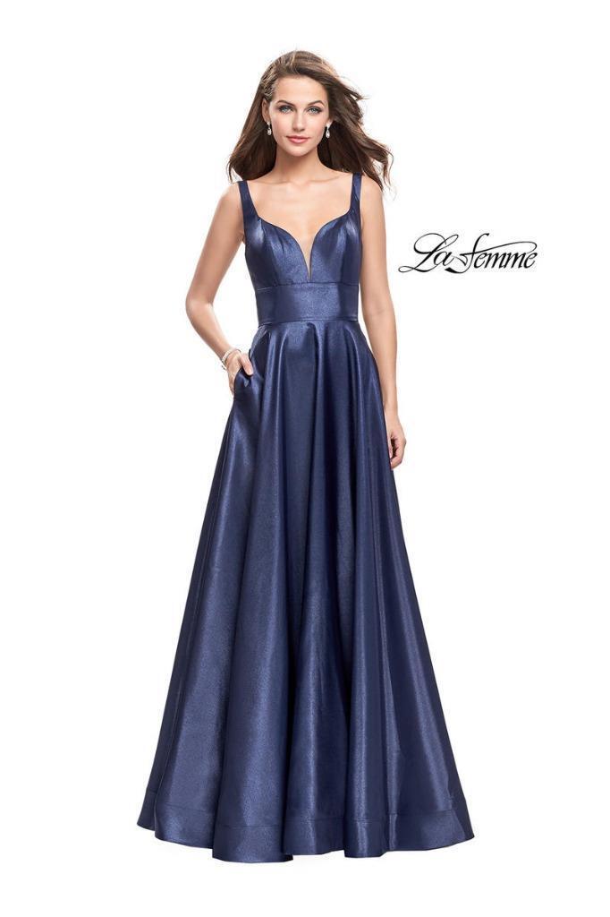 La Femme Mikado A-Line Gown- Size 4 -(F)