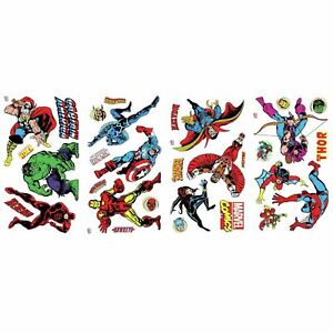 Details about OFFICIAL MARVEL COMICS ROOM DECOR WALL STICKER KIT BEDROOM  CHILDRENS