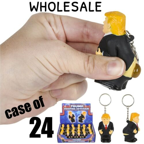 CASE-OF-24-Donald-Trump-Poop-Key-Chain-Stress-Squish-Squeeze-Turd-Crap-Toy