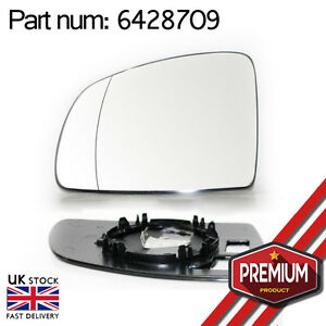Wide Angle Mirror Glass Driver Side
