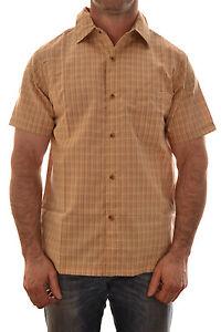 REGATTA-Hombre-Hamilton-Informal-Camisa-De-Cuadros-Tipo-Mocasin-Beis-rms014-B7