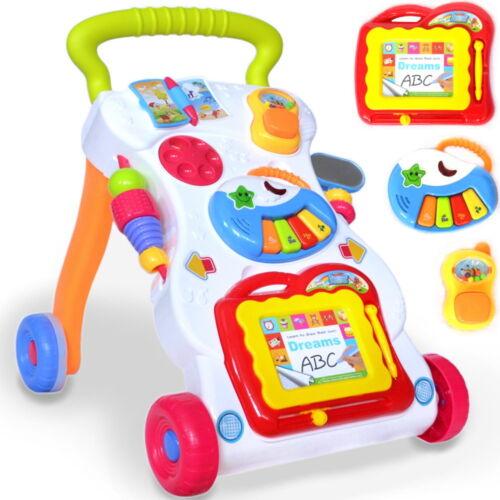 Baby Kinder Lauflernwagen Laufhilfe Gehfrei Walker mit Zaubertafel, Piano, Neu