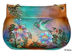 Image Is Loading Sova Hand Painted Leather Shoulder Bag