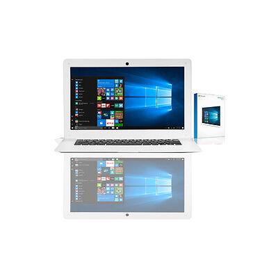 "14"" Verico Notebook Intel Quad 32 GB Flash USB 3.0 WLAN Windows 10 Home Neu"