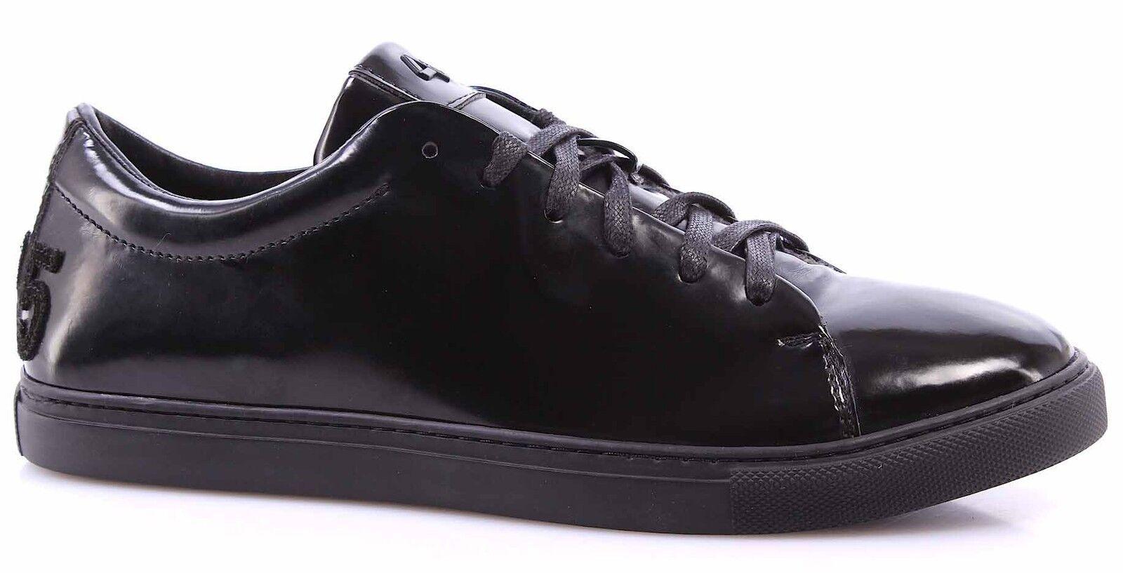 Scarpe Uomo Sneakers CYCLE 313946P LU1 Luxury Nero Italy Pelle Lucida Made In Italy Nero fad90e