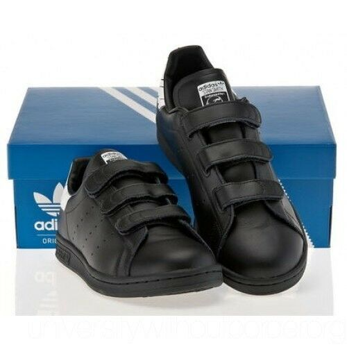 NEW adidas Originals STAN SMITH COMFORT BY2974 Leather women's Shoes  Black/White