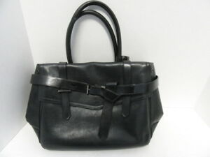 e046c21654 Image is loading REED-KRAKOFF-BLACK-LEATHER-SATCHEL-HANDBAG