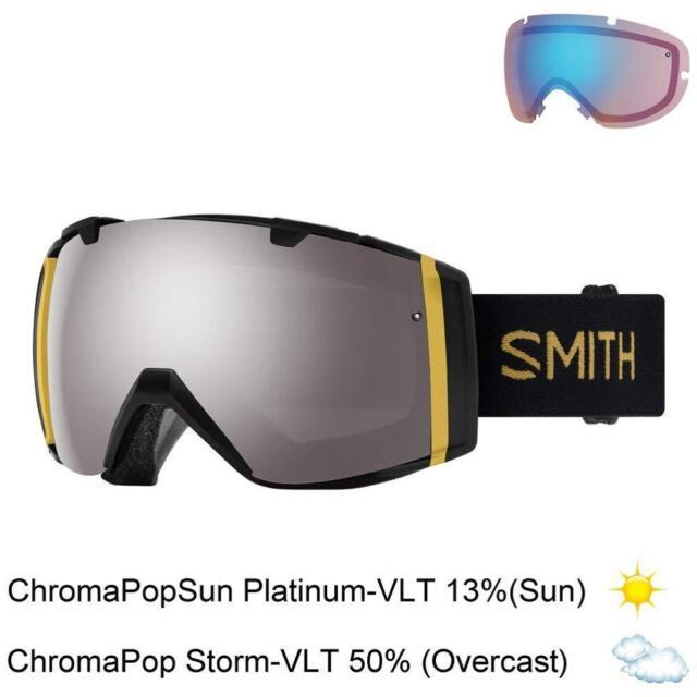 880d1ea30 Smith Optics Adult I/O Snowmobile Goggles Black Firebird / ChromaPop Sun  Mirror