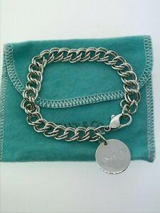 Vintage Tiffany Co Sterling Silver Double Chain Link Lancome Charm Bracelet Ebay