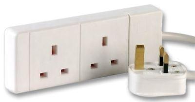 Pro Elec-gang 2 Prolunga, Bianco 10m-
