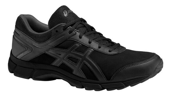 a6a7968e59d3 ASICS Gel-mission Mens Black Outdoors Road Walking Sports Shoes Trainers UK  10.5