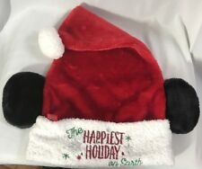 ba5190fef52bc BRAND NEW Disney Santa Hat - Santa Mickey Mouse Ears - Happiest Holiday on  Earth