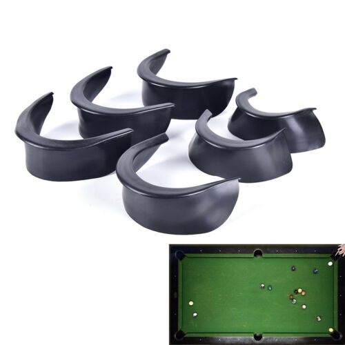 6Pcs//Set Billiard Pool Table Valley Pocket Liners Rubber Billiard Replacement/_YK