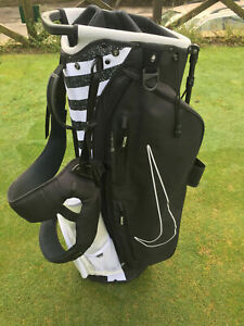 Nike AIR SPORT Golf bag light weight carry stand Chacoal Black /White SUPER RARE