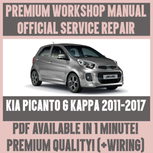 workshop manual service repair guide for kia picanto g kappa 2011 rh ebay co uk kia picanto 2013 workshop manual kia picanto service manual