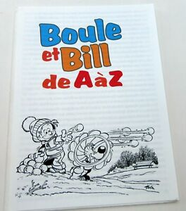 BOULE-ET-BILL-24-ROBA-DOSSIER-DE-PRESSE-1996-RARE-TBE