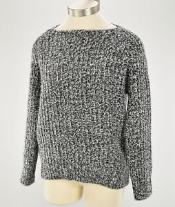 VINCE-Womens-Gray-MARLED-Wool-Cashmere-Blend-Boatneck-Raglan-Sweater-SMALL-NWT