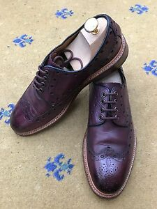 Uk Burgundy Leather Mens 9 Lace Up Sweeney Oliver Shoes 10 Brown Goodyear Us 43 qAnpUw