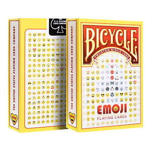 Bicycle-EMOJI-playing-cards-Fun-desing-USPCC-Poker-size-Original-New-1-Deck-USA