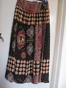 MinkPink-Multicoloured-Thai-Style-Maxi-Skirt-in-Size-10