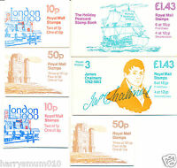 Royal Mail stamp booklet booklets x 6 1982