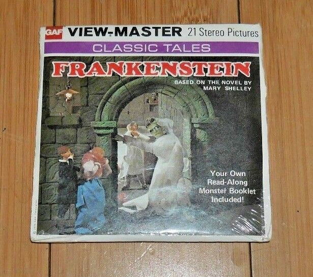 SEALED MINT  FRANKENSTEIN MARY SHELLEY VIEWMASTER REELS B323 1976 RARE   B147
