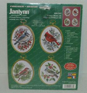 Janlynn-Cross-Stitch-Kit-WINTER-BIRDS-Vtg-2001-But-NEW-Sealed-04-767