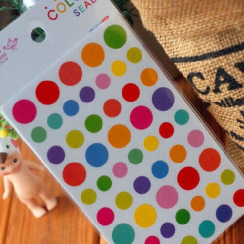 12Sheets Rainbow Heart Sticker Diary Planner Journal Scrapbook Decor Ablums  HGU