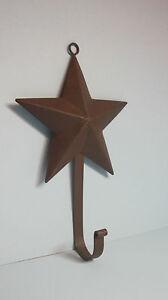 Rustic-Tin-Barn-Star-Hook-3-D-primitive-home-decor-large