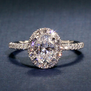 ec5f4cc990d54 Details about A Jaffe Oval Halo Engagement Ring with Belted Gallery style  ME2168Q - 1.5CT 14KW