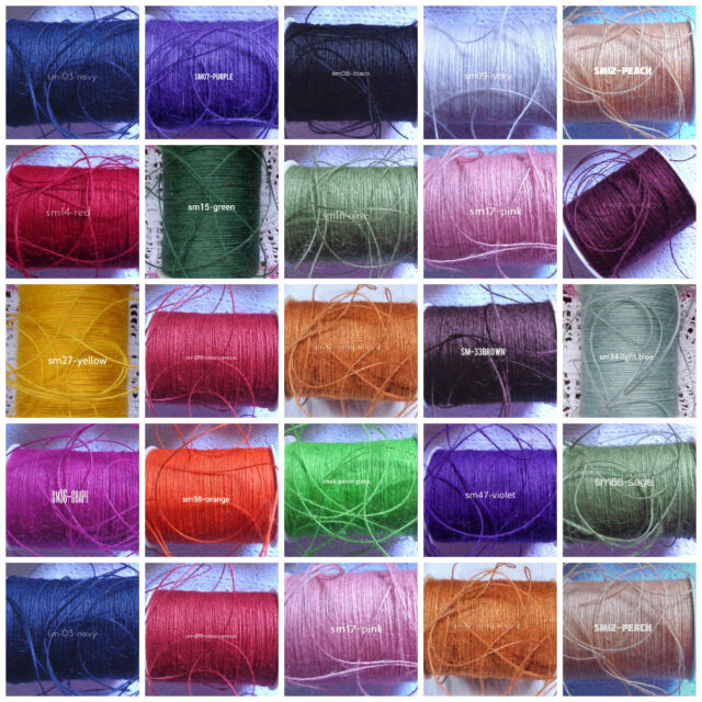 price for 10 yard jute burlap ribbon/string 1/32 inch choose your color