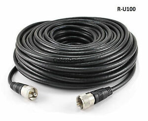 100ft-RG8x-Coax-UHF-PL259-Male-to-Male-50-ohm-Antenna-Cable-R-U100
