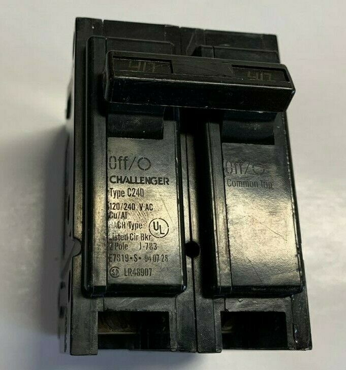 NEW Challenger C240 Circuit Breaker 2 Pole 40 Amp 120//240 Volt HACR Plug on