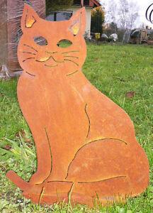 Katze sitzend 28x22cm kater rost edelrost metall figur for Edelrost tiere