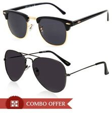 COMBO OFFER Clubmaster and Aviator Style Sunglasses -- UV400 Protection