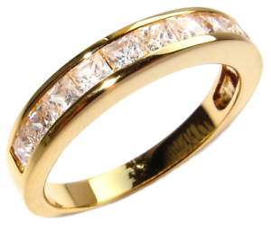 10 years Half Band Free Engraving 18kt Genuine Gold Filled UK Guarantee 3µ