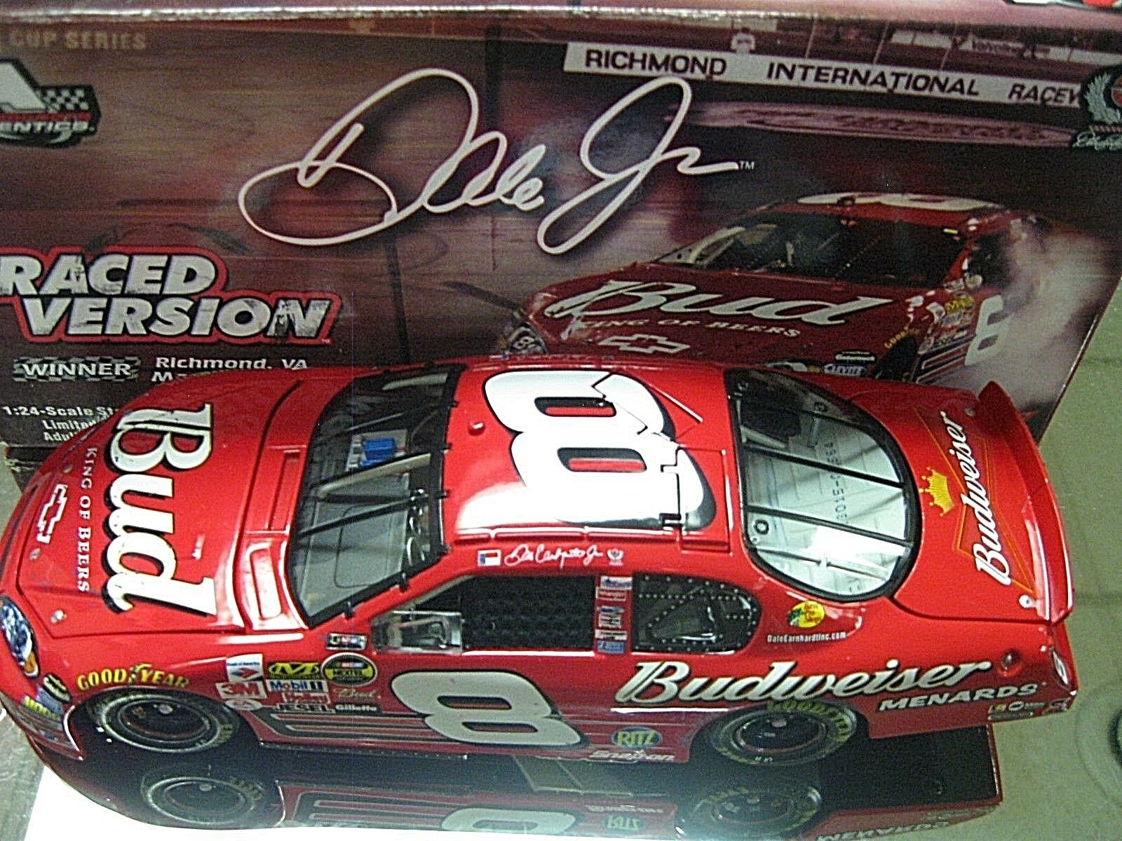 RARE  2006 DALE EARNHARDT JR BUDWEISER RICHMOND WIN GM DEALERS DEI MONTE CARLO