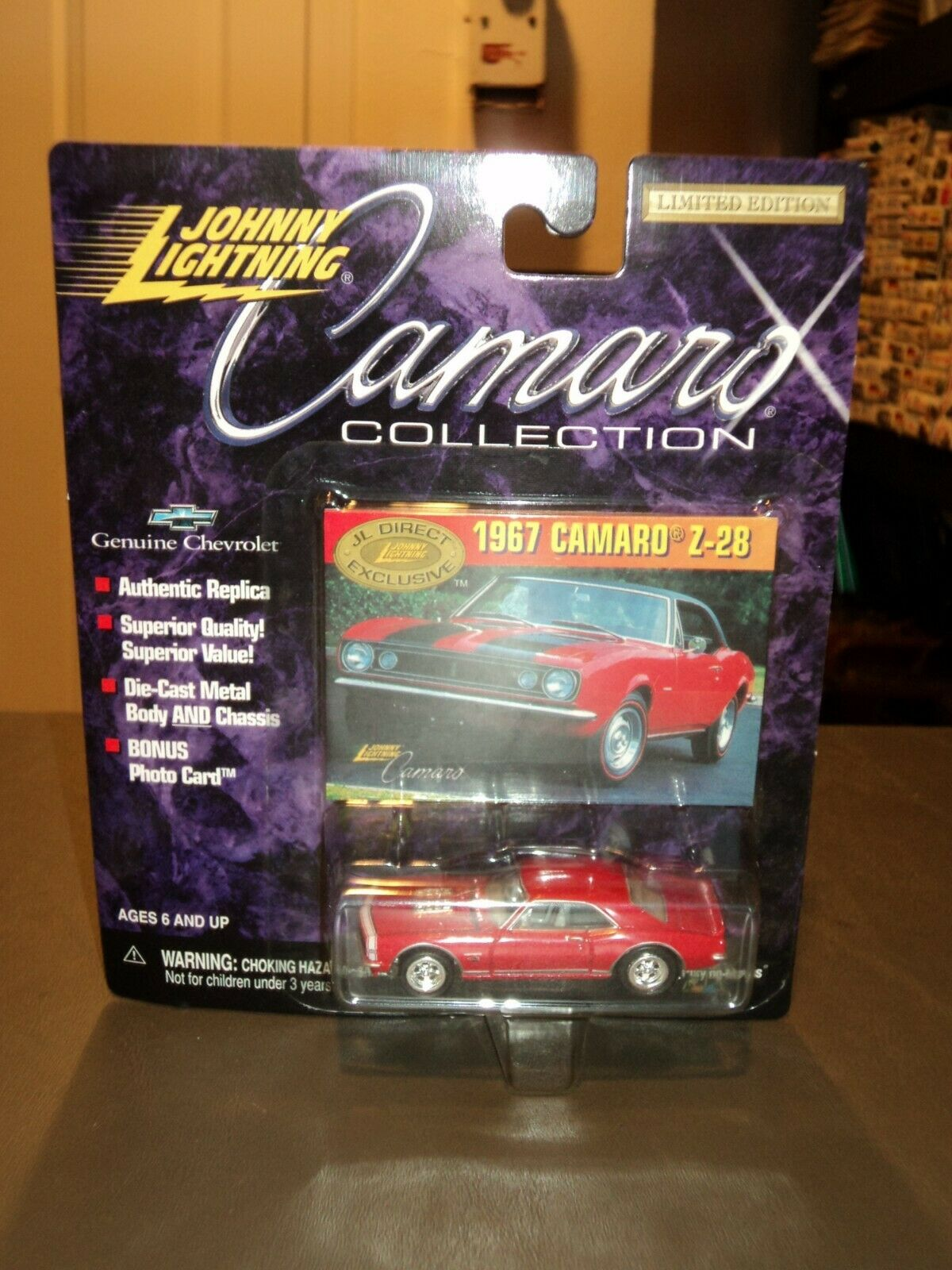 NEW Johnny Lightning - Collection 1967 Camaro Z-28 MAIL ORDER ONLY Red VERY RARE