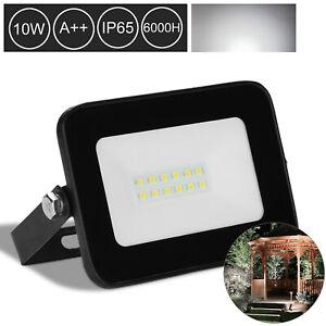 10W-LED-Flutlicht-Scheinwerfer-Aussenstrahler-Baustrahler-Ultraslim-Kaltweiss-IP65