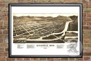 Vintage-Missoula-MT-Map-1884-Historic-Montana-Art-Old-Victorian-Industrial