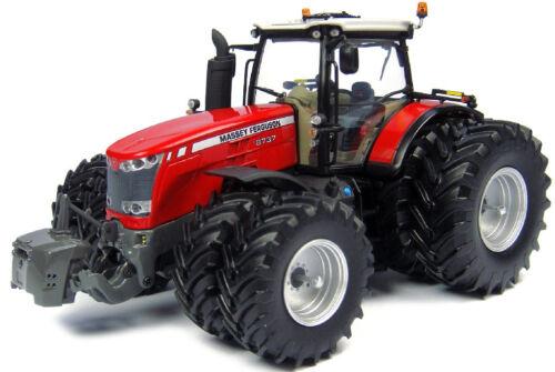 Tracteur MASSEY FERGUSON 8737 8 roues équipé du relevage avant avec mas UH4284