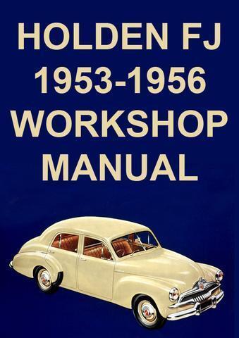 Panel Van and Ute 1953-1956 WORKSHOP MANUAL HOLDEN FJ Sedan