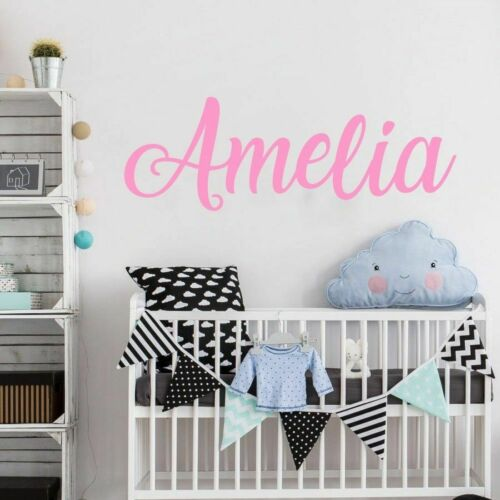 Name Wall Decal Personalized Wall Sticker Boys Girls Decal Nursery Decor Beauty
