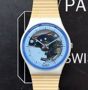 Swatch 1988, GW110, White Knight, working, almost mint