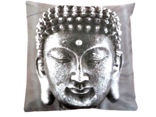 GREY BUDDHA DIGITAL PRINTED CUSHION COVER