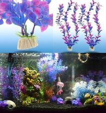 Aquarium Plastic Water Plants Landscaping Ornament Fish Tank Decoration 2pcs