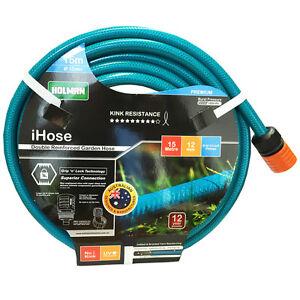 NEW-HOLMAN-15M-Flexible-Garden-Water-Hose-12MM-1-2-034-9-10-KINK-FREE