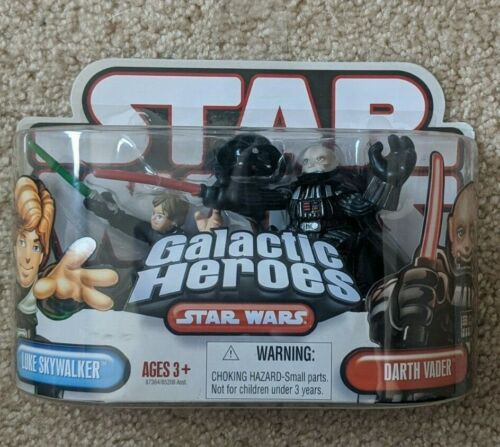Star Wars Galactic Heroes Luke SKywalker /& Darth Vader 2 Pack