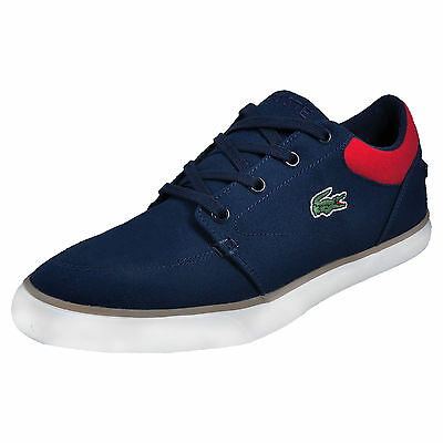 Lacoste Bayliss 116 Mens Designer Canvas Classic Casual Plimsoll Trainers Navy